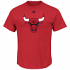 "Chicago Bulls Majestic NBA ""Supreme Logo"" Men's Short Sleeve T-Shirt - Red"