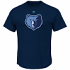 "Memphis Grizzlies Majestic NBA ""Supreme Logo"" Men's Short Sleeve T-Shirt - Navy"