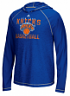 "New York Knicks Adidas NBA ""Fade Away"" Men's Climalite Hooded Long Sleeve Shirt"