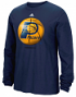 "Indiana Pacers Adidas NBA ""Logo Ball"" Premium Print L/S Men's T-Shirt"
