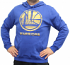 "Golden State Warriors Majestic NBA ""Court Tek Patch"" Hooded Sweatshirt"
