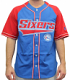 "Philadelphia 76ers Starter NBA Men's ""Double Play"" Baseball Jersey"