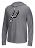 "San Antonio Spurs Adidas NBA ""Primary"" Men's Climalite Hooded L/S Shirt"