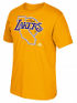 "Los Angeles Lakers Adidas NBA Hardwood Classic ""Jersey Hook"" Men's S/S T-Shirt"