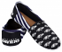 Baltimore Ravens Women's NFL Slip On Canvas Stripe Shoe Slippers