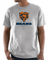 "Chicago Bears Majestic NFL ""Critical Victory 3"" Men's S/S T-Shirt - Gray"