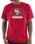 """San Francisco 49ers Majestic NFL """"Critical Victory 3"""" Men's S/S T-Shirt - Red"""