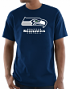 """Seattle Seahawks Majestic NFL """"Critical Victory 3"""" Men's S/S T-Shirt - Navy"""