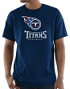 "Tennessee Titans Majestic NFL ""Critical Victory 3"" Men's S/S T-Shirt - Navy"