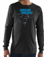 "Carolina Panthers Majestic NFL ""Elite Reflective"" Men's L/S Black T-Shirt"