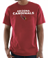 "Arizona Cardinals Majestic NFL ""Pick Six"" Men's Short Sleeve T-Shirt - Red"