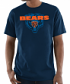 "Chicago Bears Majestic NFL ""Pick Six"" Men's Short Sleeve T-Shirt - Navy"