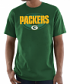 "Green Bay Packers Majestic NFL ""Pick Six"" Men's Short Sleeve T-Shirt - Green"