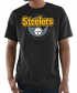 "Pittsburgh Steelers Majestic NFL ""Pick Six"" Men's Short Sleeve T-Shirt - Black"