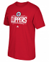"""Los Angeles Clippers Adidas NBA Men's """"Primary Logo"""" Short Sleeve T-Shirt - Red"""