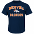 Denver Broncos Majestic NFL Heart & Soul III Men's Navy Short Sleeve T-Shirt