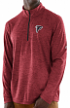 "Atlanta Falcons Majestic NFL ""Play to Win"" 1/2 Zip Mock Neck Pullover Shirt"
