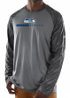 "Seattle Seahawks Majestic NFL ""Rivalry"" Men's Performance L/S Gray Shirt"