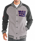 "New York Giants G-III NFL ""The Ace"" Men's Premium Sweater Varsity Jacket"