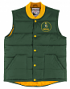 """Green Bay Packers Mitchell & Ness NFL Men's """"Play Clock"""" Throwback Vest Jacket"""