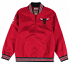 "Chicago Bulls Mitchell & Ness NBA Men's ""Rebound"" 1/4 Zip Pullover Red Jacket"