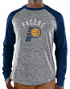 "Indiana Pacers Majestic NBA ""Exposure"" Men's Long Sleeve Gray Slub Shirt"