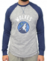 "Minnesota Timberwolves Majestic NBA ""Exposure"" Men's Long Sleeve Gray Slub Shirt"