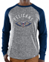 "New Orleans Pelicans Majestic NBA ""Exposure"" Men's Long Sleeve Gray Slub Shirt"