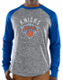 "New York Knicks Majestic NBA ""Exposure"" Men's Long Sleeve Gray Slub Shirt"