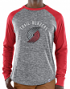 "Portland Trail Blazers Majestic NBA ""Exposure"" Men's Long Sleeve Gray Slub Shirt"