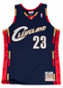Lebron James Cleveland Cavaliers Mitchell & Ness Authentic 2008 Navy NBA Jersey