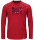 "Chicago Bulls Majestic NBA ""Hit the Mark"" Men's Tri-Blend Long Sleeve T-Shirt"