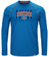 "New York Knicks Majestic NBA ""Hit the Mark"" Men's Tri-Blend Long Sleeve T-Shirt"
