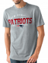 "New England Patriots NFL G-III ""Playoff"" Men's Dual Blend S/S T-shirt - Graphite"