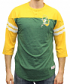Green Bay Packers Mitchell & Ness NFL Starting 3/4 Sleeve Tri-blend Henley Shirt