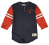 "San Francisco Giants Mitchell & Ness MLB ""Home Stretch"" 3/4 Sleeve Henley Shirt"