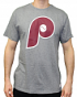 Philadelphia Phillies MLB Mitchell & Ness XL Logo Vintage Premium Men's T-Shirt