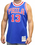 Wilt Chamberlain Philadelphia 76ers Mitchell & Ness Authentic 1966-67 NBA Jersey