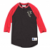 "Atlanta Falcons Mitchell & Ness NFL Men's ""4th Down"" 3/4 Sleeve Henley Shirt"