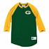 """Green Bay Packers Mitchell & Ness NFL Men's """"4th Down"""" 3/4 Sleeve Henley Shirt"""