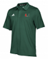 "Miami Hurricanes Adidas NCAA 2018 Sideline ""Team Iconic"" Polo Shirt - Green"