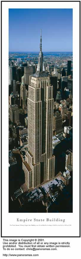 New York City Empire State Building 13.5x40 Panoramic Photo