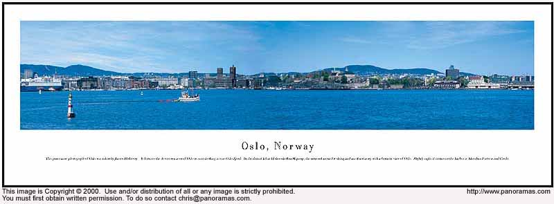 Oslo, Norway 13.5x40 Panoramic Photo