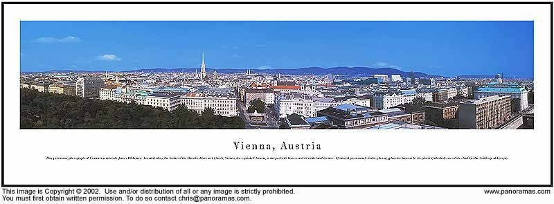 Vienna, Austria 13.5x40 Panoramic Photo