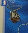 New Jersey Nets NBA Team Pendant w/18 '' Chain