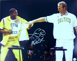 Larry Bird Magic Johnson Signed Celtics 16x20