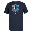 Dallas Mavericks Adidas Navy Full Primary Logo T-Shirt