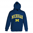 Michigan Wolverines Team Color NCAA Embroidered Hooded Sweatshirt