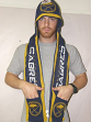 Buffalo Sabres 2011 Team Stripe Hooded Knit Scarf w/ Pockets
