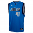 Dirk Nowitzki Adidas Youth Revolution Dallas Mavericks Replica Blue Jersey